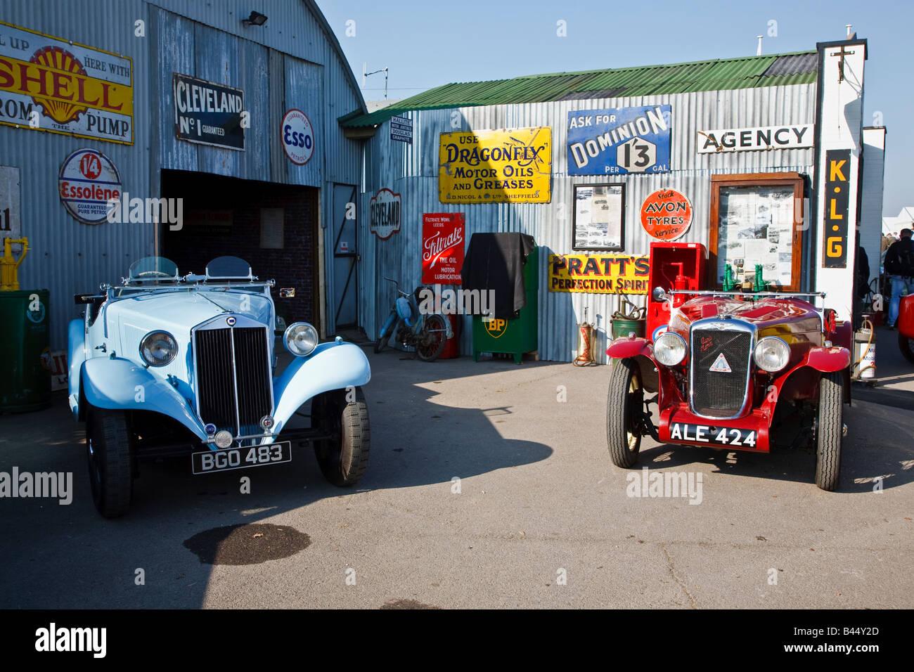 Classic Car Garage Uk Stock Photos Classic Car Garage Uk Stock