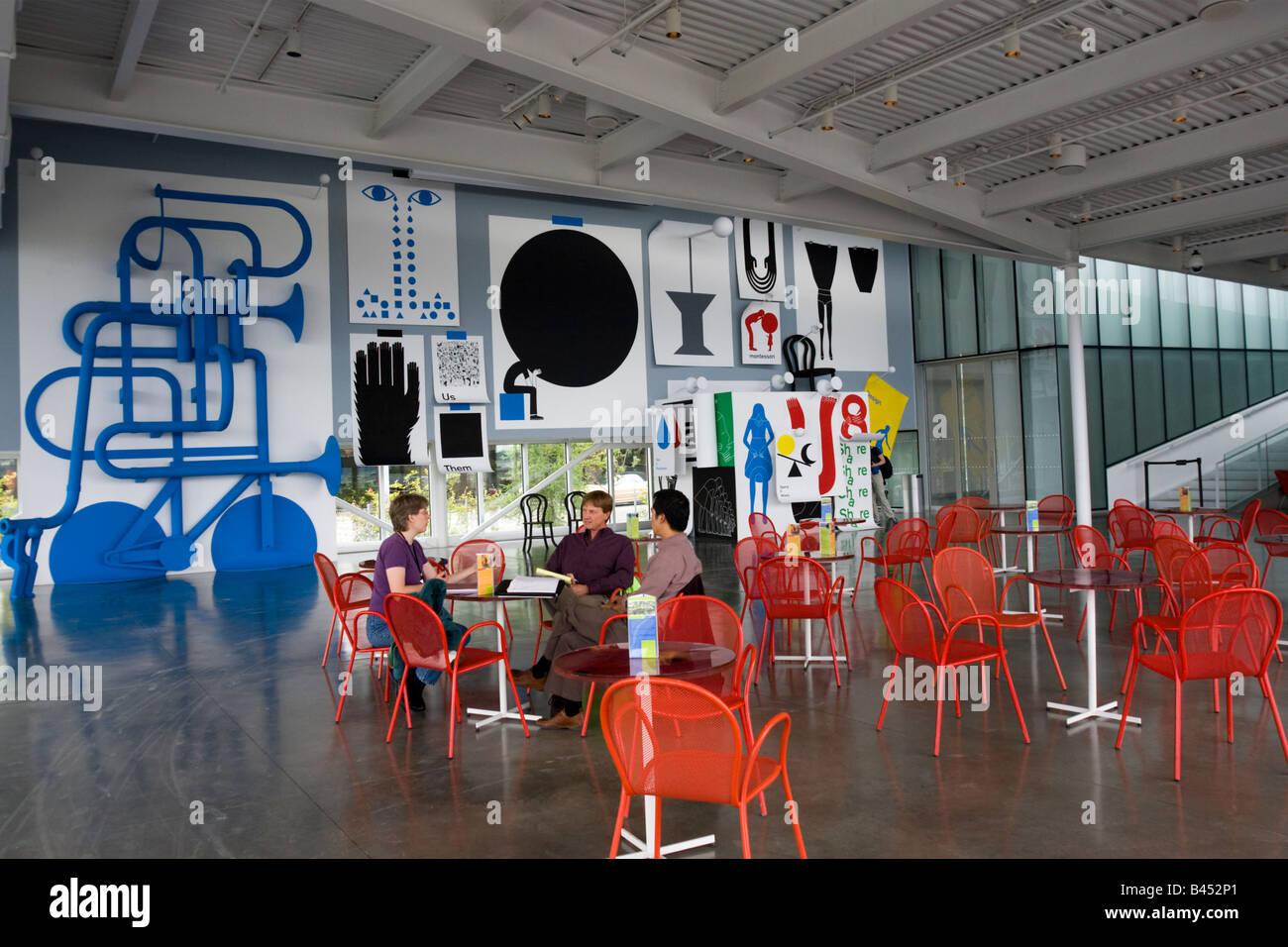 Cafe At SAMs Seattle Art Museum Olympic Sculpture Park Washington State Wa USA