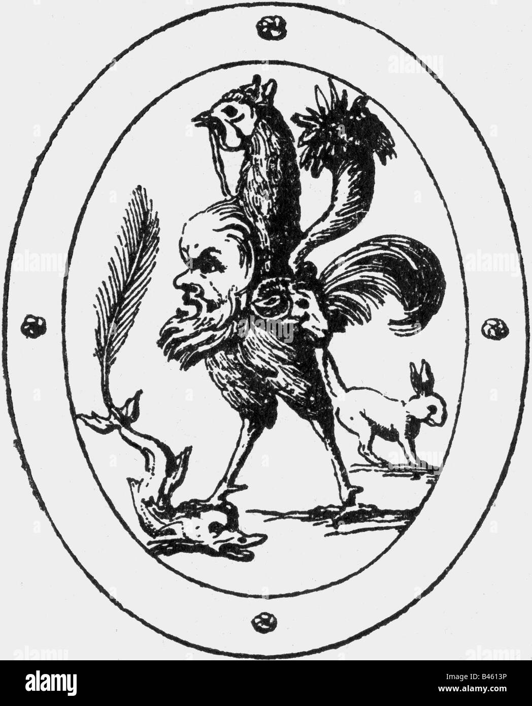superstition mythical creatures chimera drawing after ancient