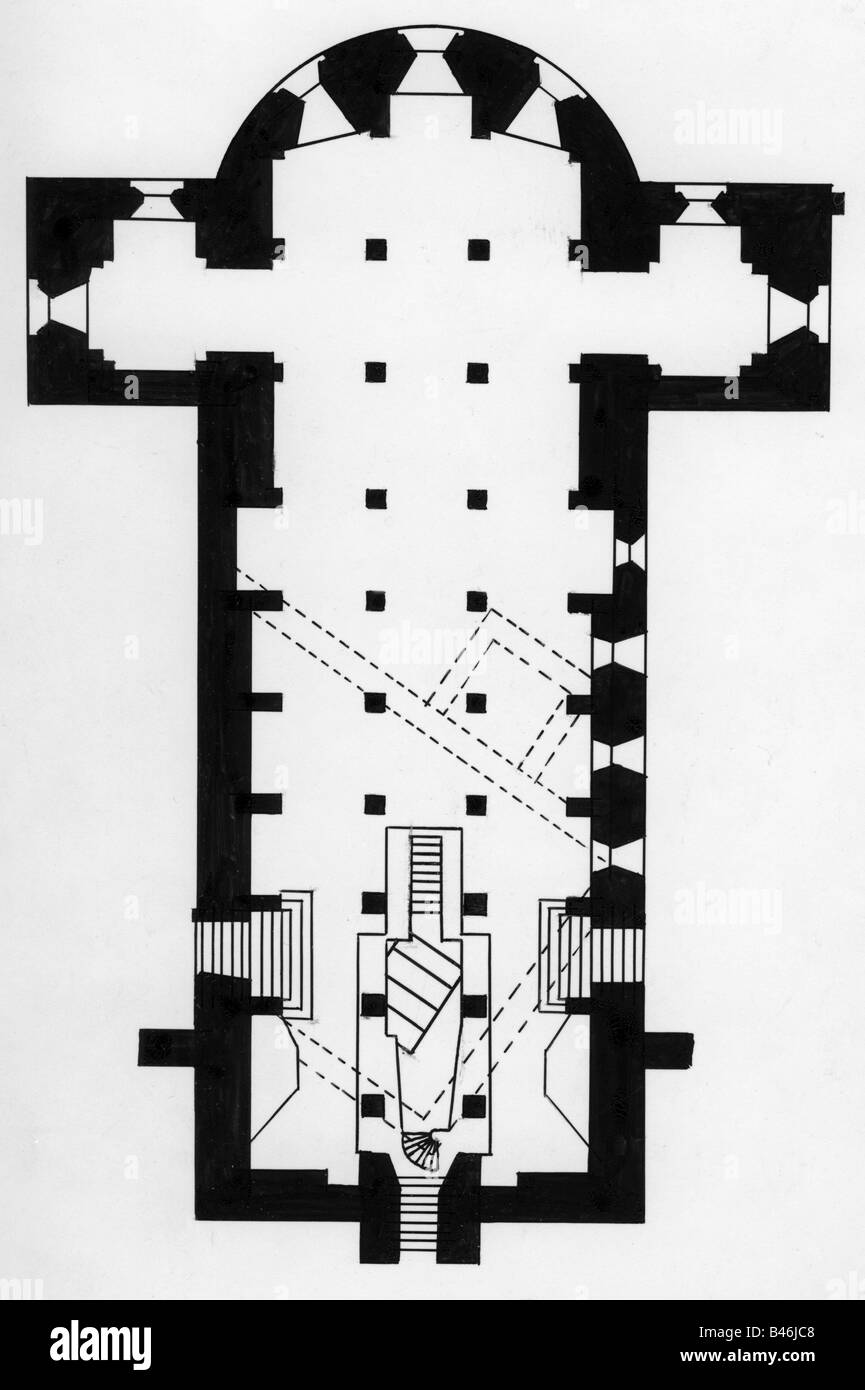 architecture floor plans bonn minster built 1050 1153