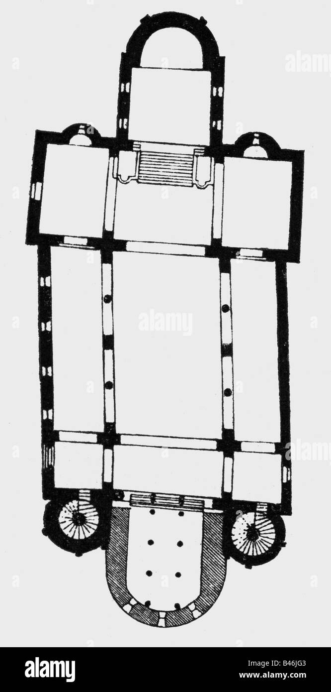 architecture floor plans saint cyriacus abbey church gernrode