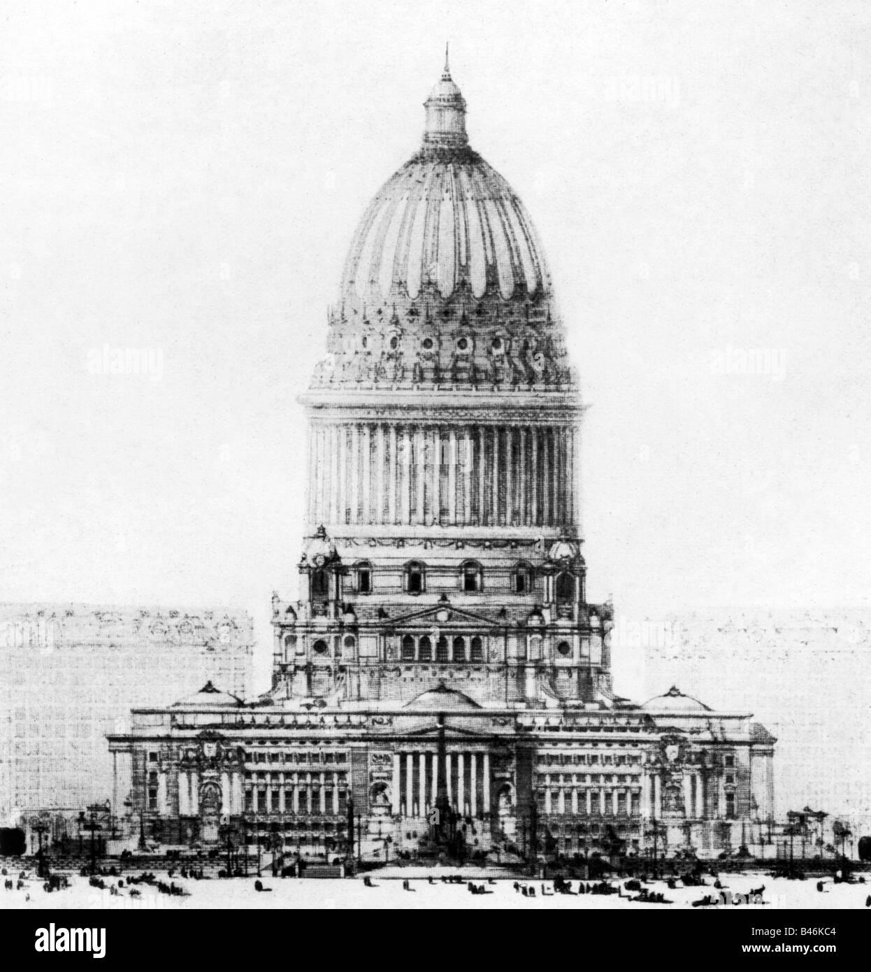 Architecture Designs Chicago City Hall By Daniel Burnham