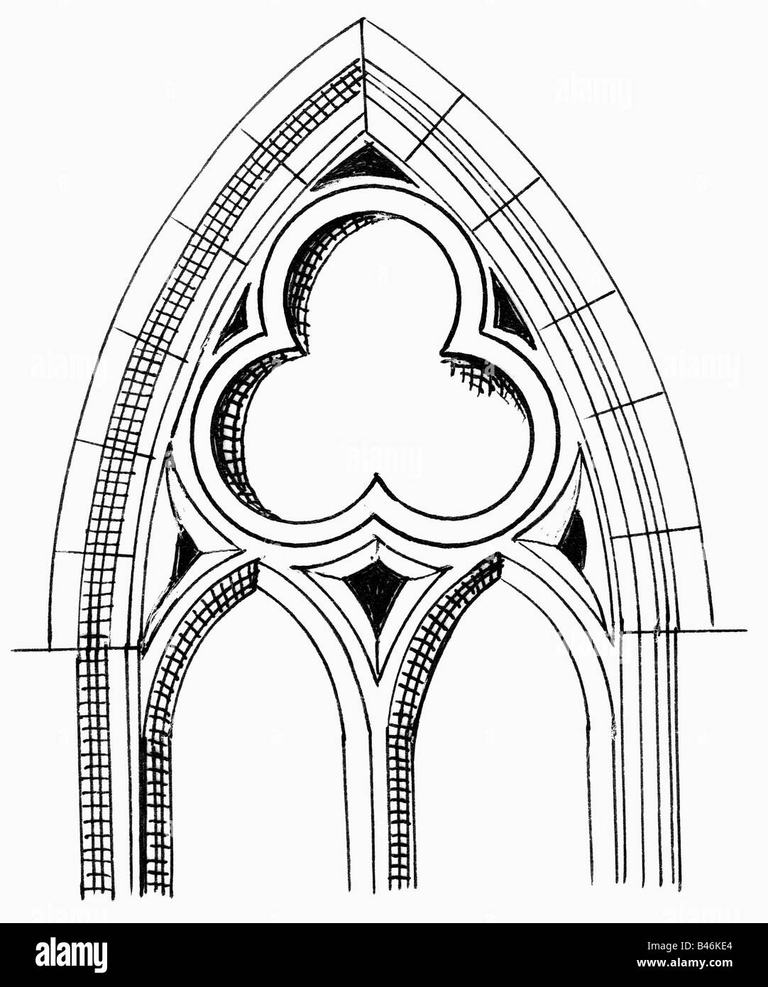 Architecture Houses Detail Gothic Window Drawing Middle Ages Historic Historical