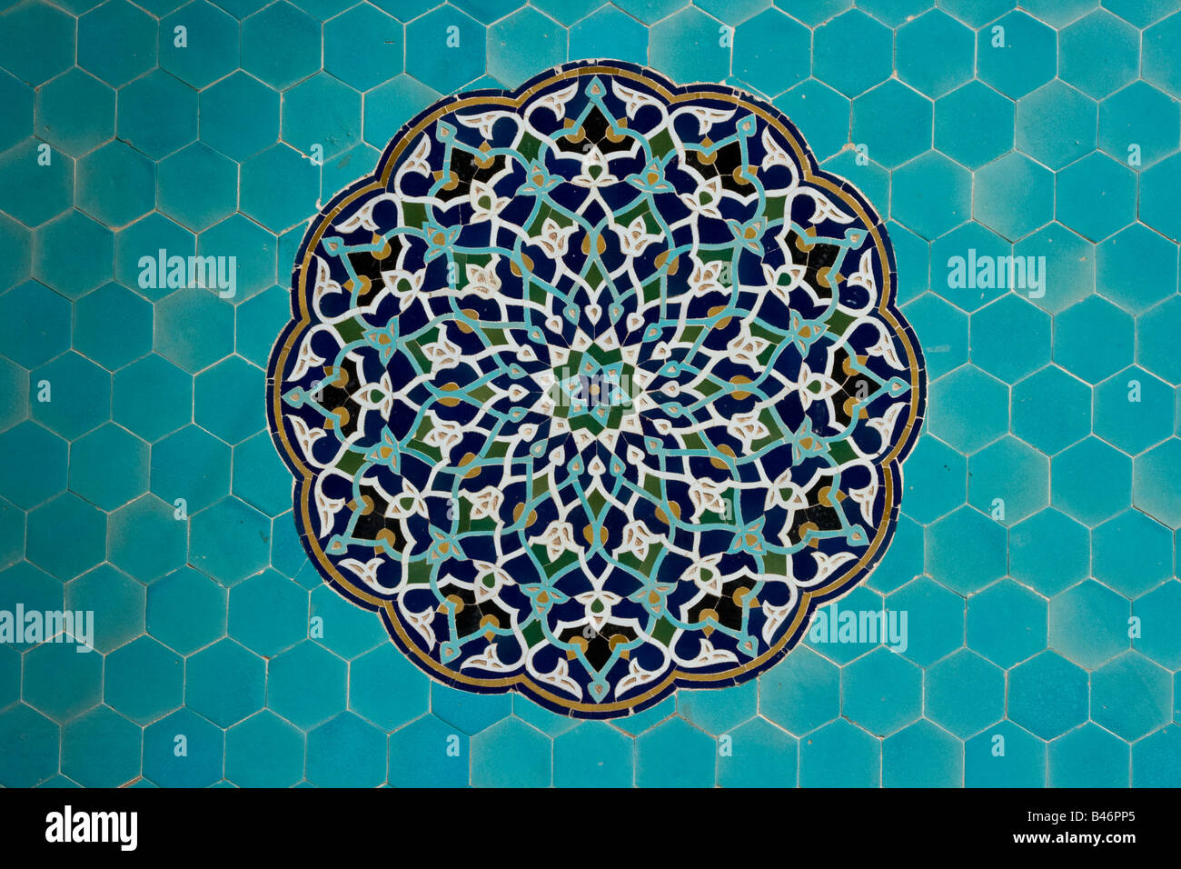 Decorative Tiles Inside Jameh Masjid Or Friday Mosque In