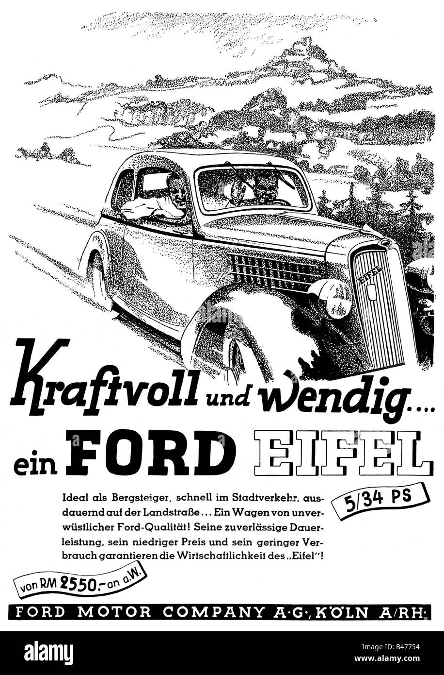 Advertising cars ford eifel ford motor company for Ford motor company stock