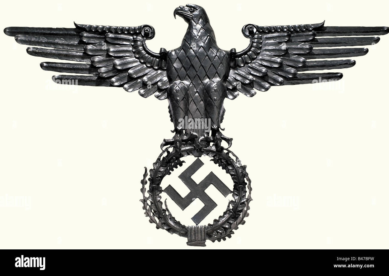 A wrought iron national eagle for a building of the wehrmacht a wrought iron national eagle for a building of the wehrmacht forged in several parts bolted and riveted on the back the smi buycottarizona Gallery