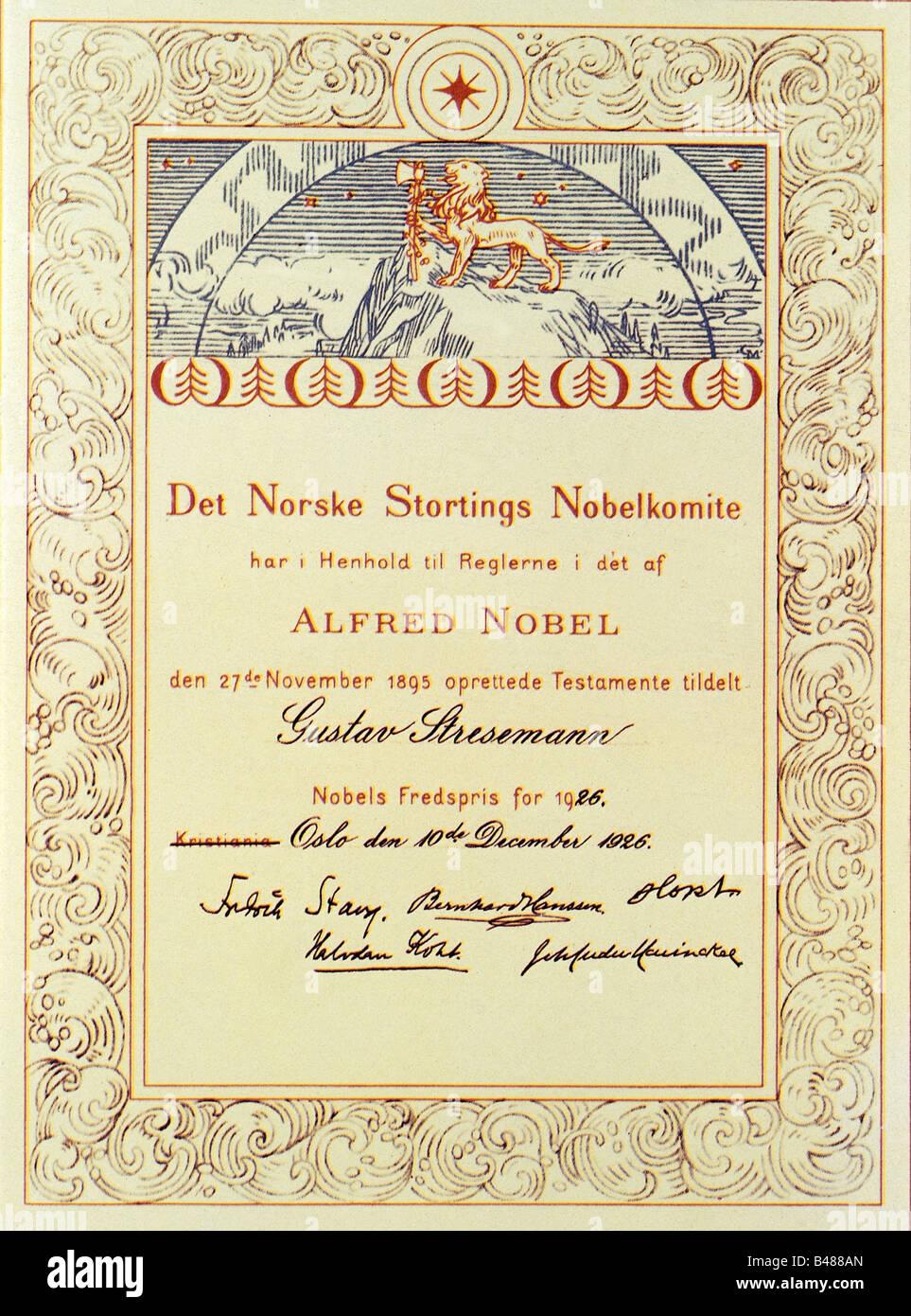 prize certificate
