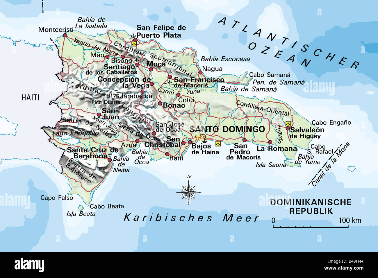 Cartography Maps America Dominican Republic Circa - Map of central america and the caribbean islands