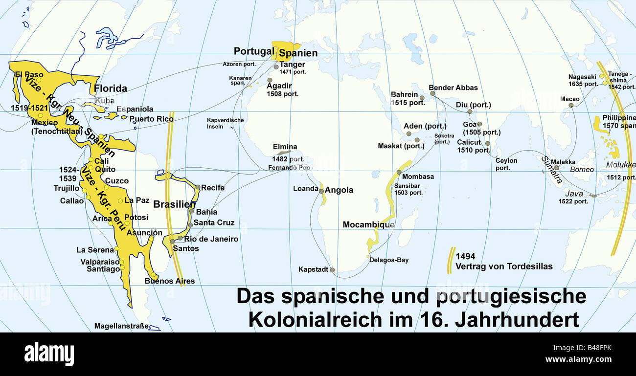 Carthography Historical Maps Colonies Of Spain And Portugal - Spain historical map