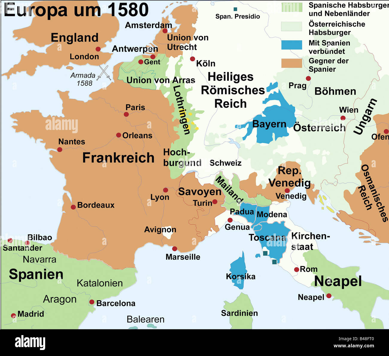 carthography historical maps modern times Europe circa 1580