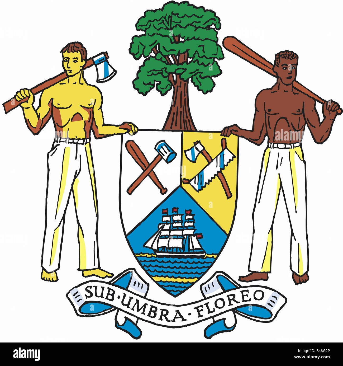 heraldry, coat of arms, Belize, national coat of arms, symbol ...