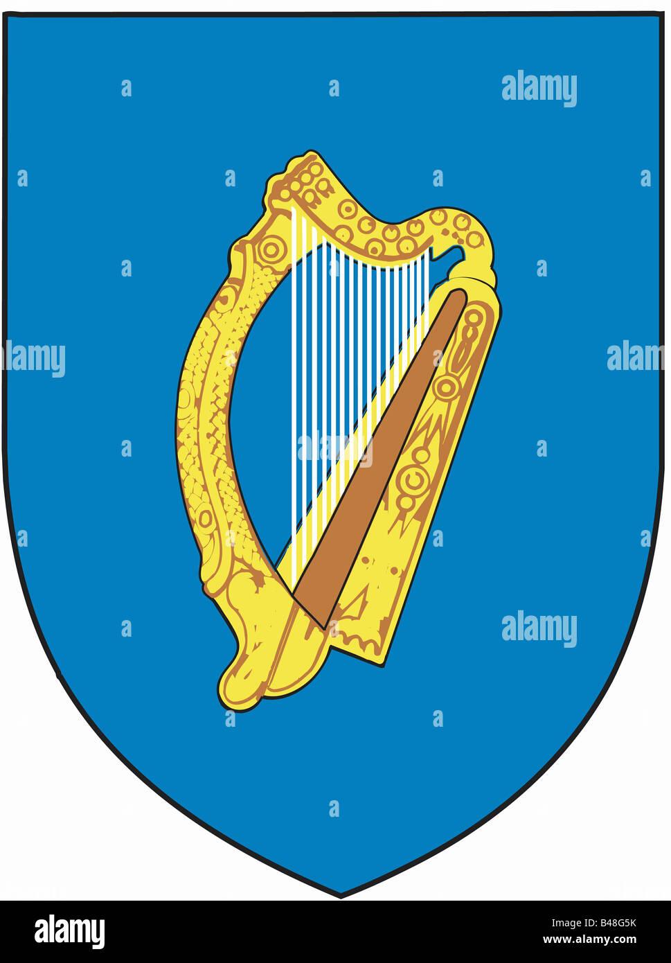 Heraldry coat of arms ireland national coat of arms symbol heraldry coat of arms ireland national coat of arms symbol emblem crest europe geography harp irishclipping buycottarizona Images