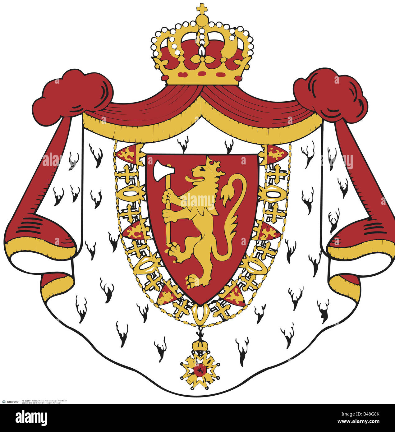 Coat Of Arms Of Norway Stock Photos & Coat Of Arms Of Norway Stock ...