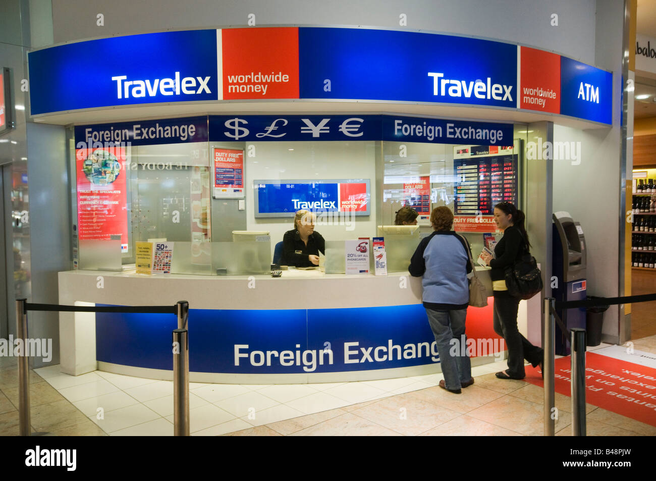 Travelex Exchange In Manchester Airport Terminal 1 Departures After Security Contact