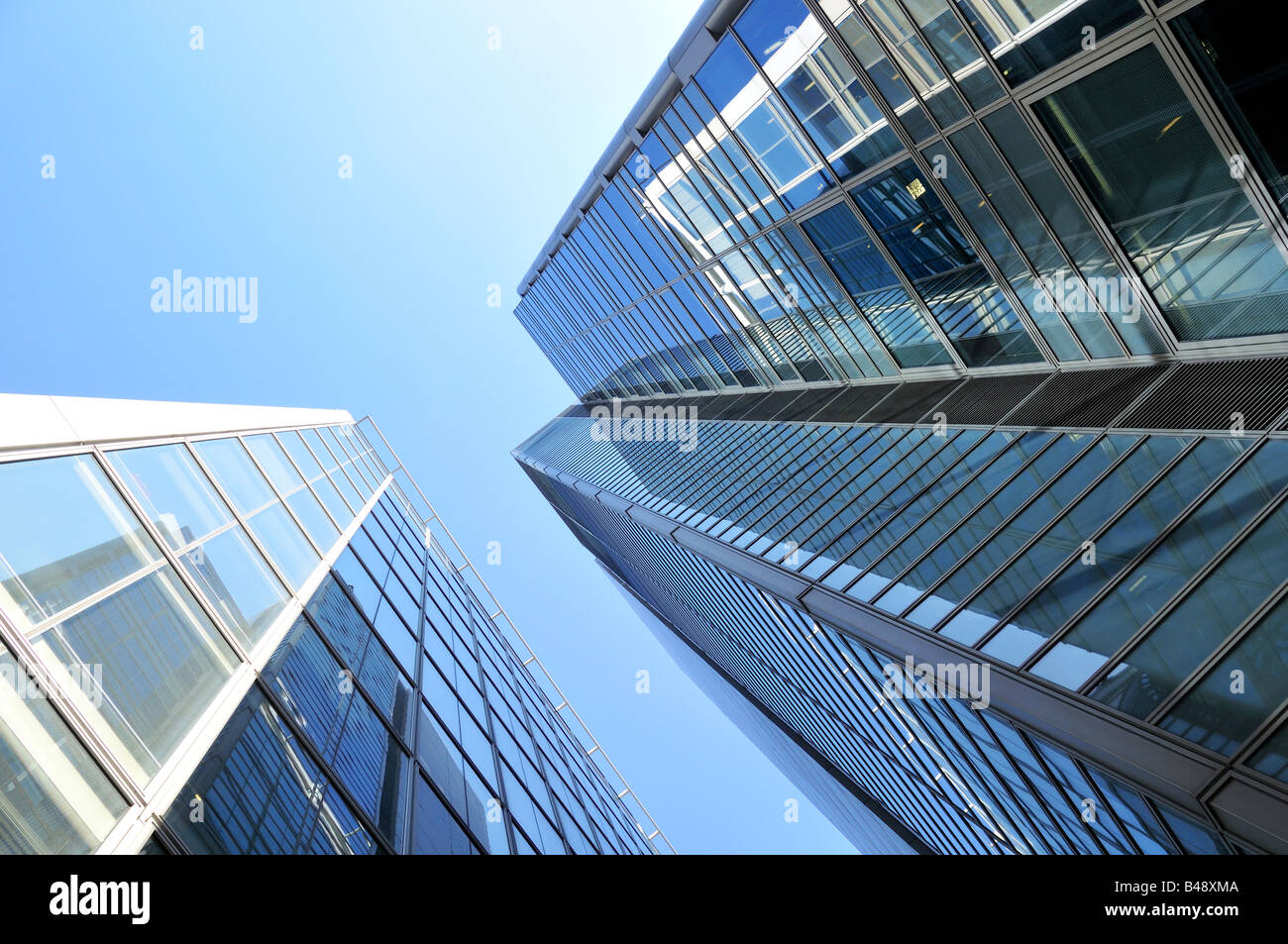 Modern Architecture Europe office buildings - modern architecture in city of london with blue