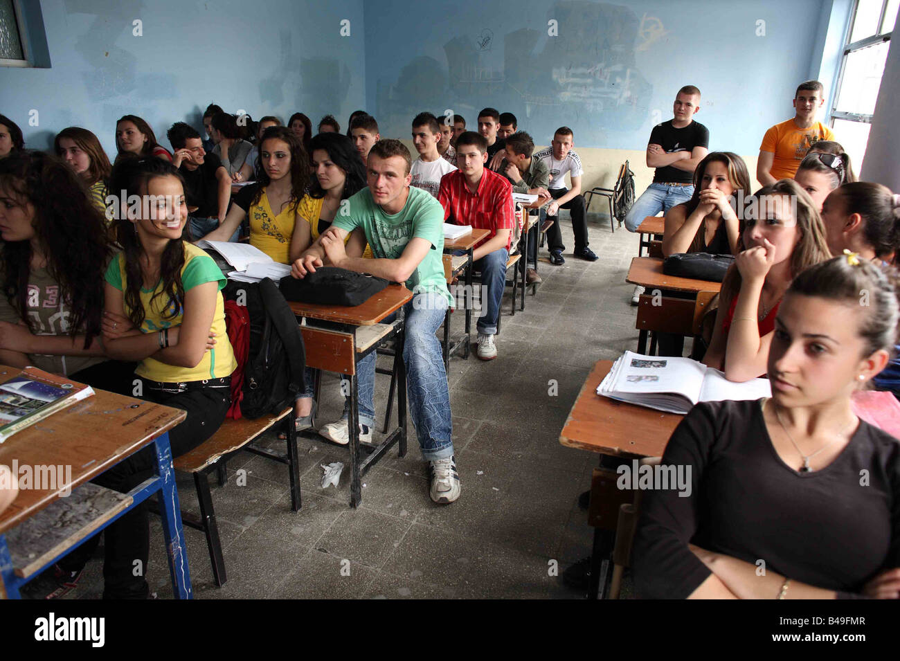 teenage class room