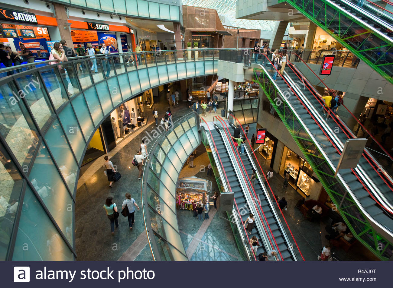 Modern Shopping Centre Zlote Tarasy Warsaw Poland Stock Photo Royalty Free Image 19902648