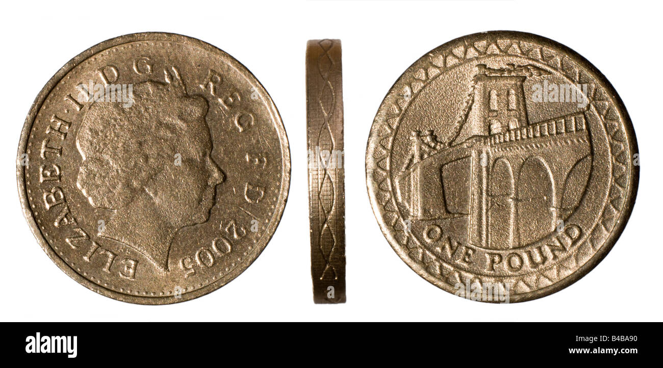 counterfeit 2005 one pound 1 coin showing poor definition. Black Bedroom Furniture Sets. Home Design Ideas