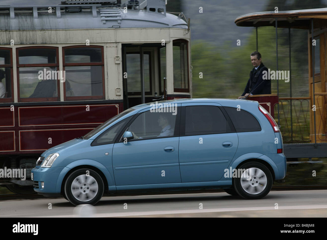 car opel meriva van limousine model year 2003 light stock photo royalty free image. Black Bedroom Furniture Sets. Home Design Ideas