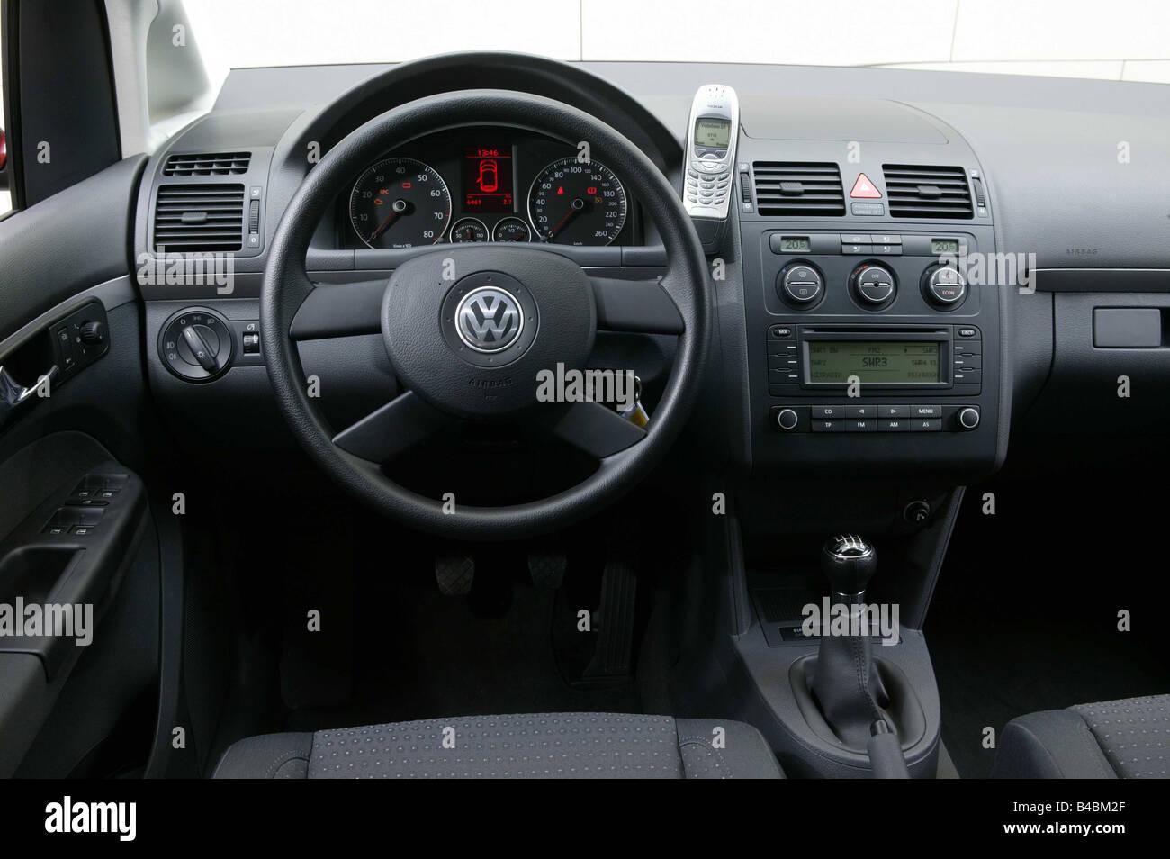 Car Vw Volkswagen Touran Van Model Year 2003 Red