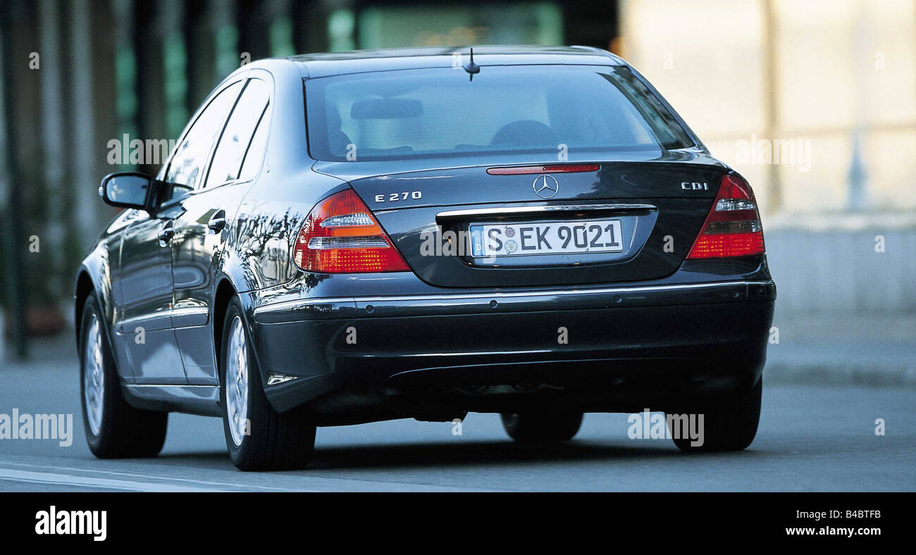 car mercedes e class e 270 cdi model year 2002 diagonal from the stock photo 19929711 alamy. Black Bedroom Furniture Sets. Home Design Ideas