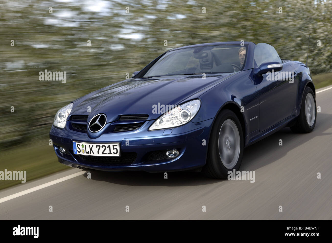 car mercedes slk 200 compressor convertible model year 2004 stock photo royalty free image. Black Bedroom Furniture Sets. Home Design Ideas