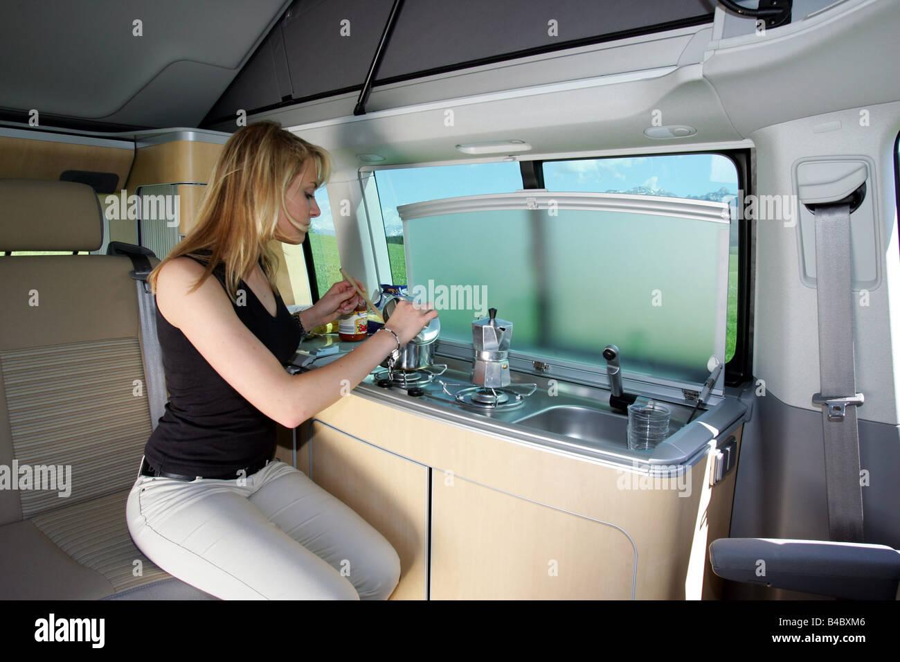 Vw Bus 2018 Interior >> Car, Mercedes Viano CDI 2.2 Marco Polo, Minibus, Camper, Campsite Stock Photo, Royalty Free ...