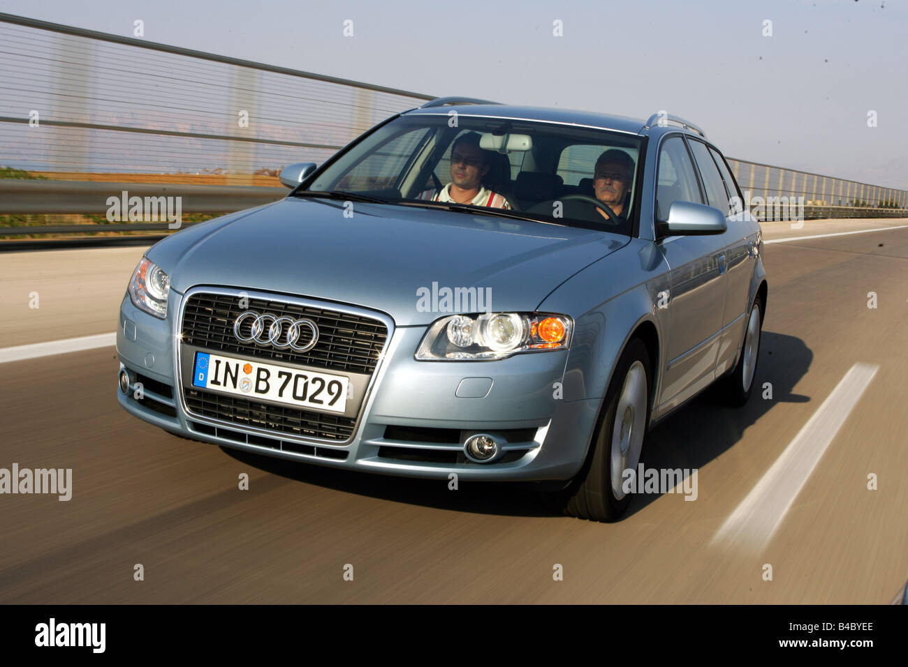 car audi a4 avant facelift model year 2004 silver blue stock photo royalty free image. Black Bedroom Furniture Sets. Home Design Ideas