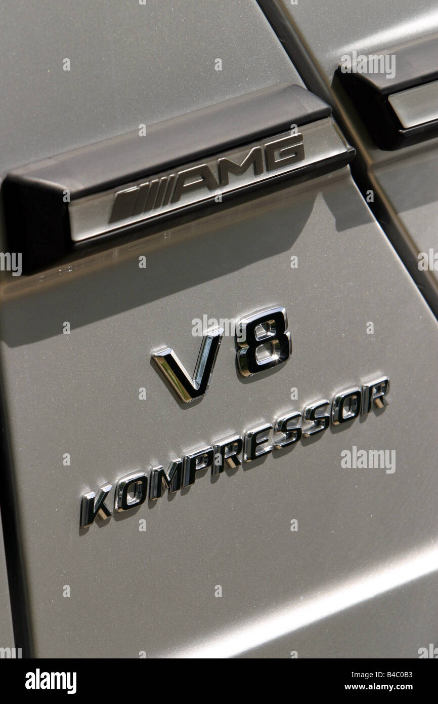 Car, Mercedes AMG G55, model year 2004, silver, cross country Stock ...