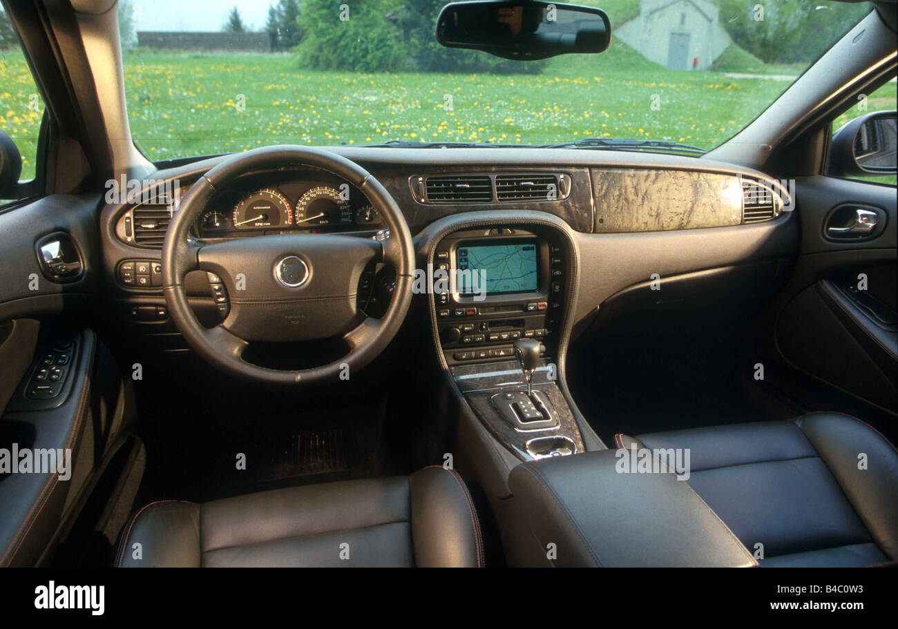car jaguar s type r upper middle sized limousine model year stock photo 19933119 alamy. Black Bedroom Furniture Sets. Home Design Ideas