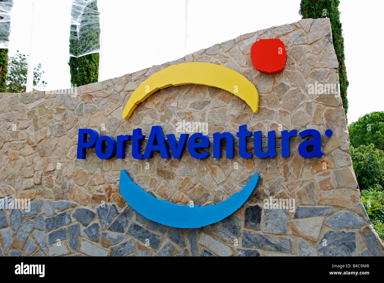 sign outside the entrance to portaventura theme park in