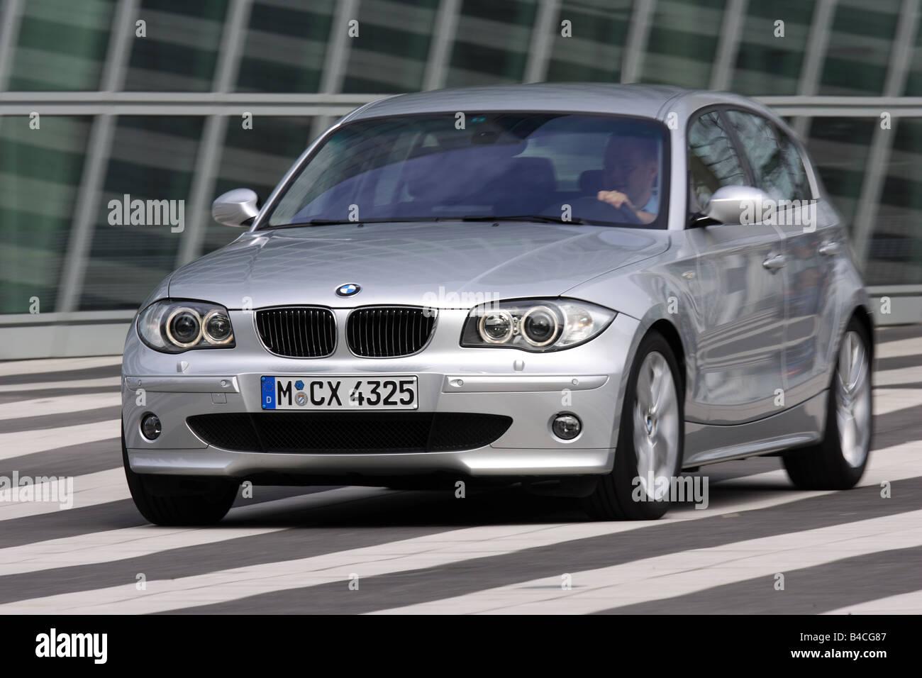 Car, BMW 130i, 1st BMW, model year 2005-, silver, medium class Stock ...