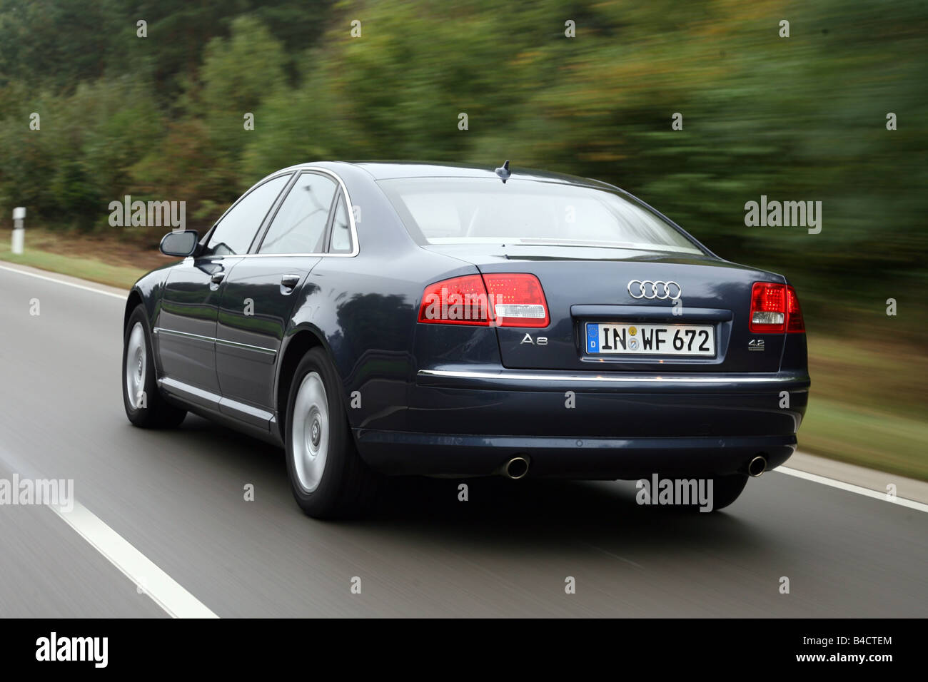 Audi a8 l 6 0 w12 quattro 2004 picture 3 of 5 rear angle image - Audi A8 4 2 Fsi Quattro Model Year 2006 Blue Moving Diagonal From