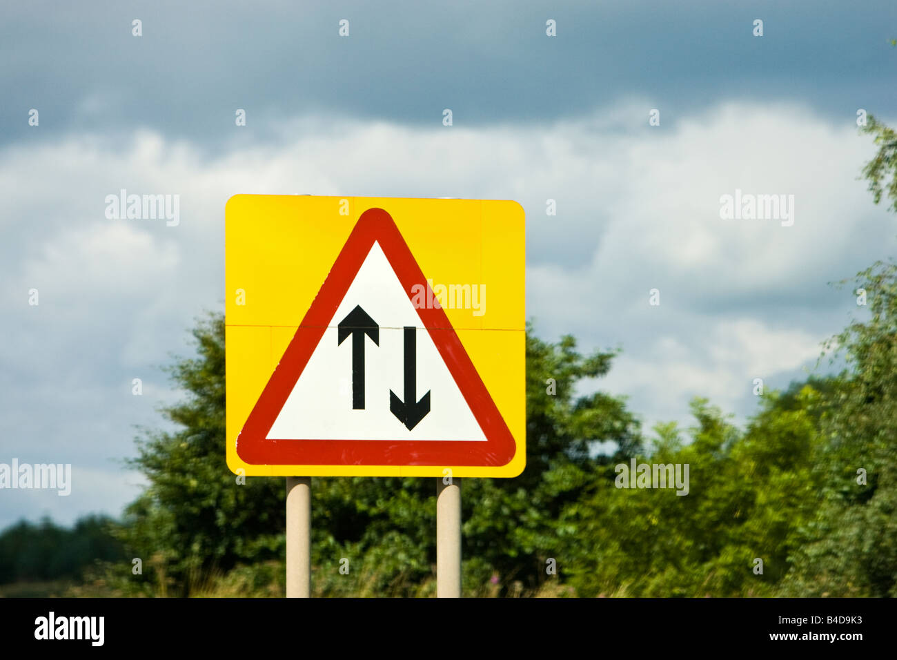 Warning Signs : Two-Way Traffic Ahead |Two Way Traffic Ahead Sign