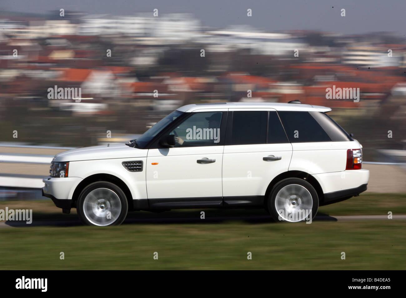 Range Rover Sport TDV8 HSE model year 2005 white driving side