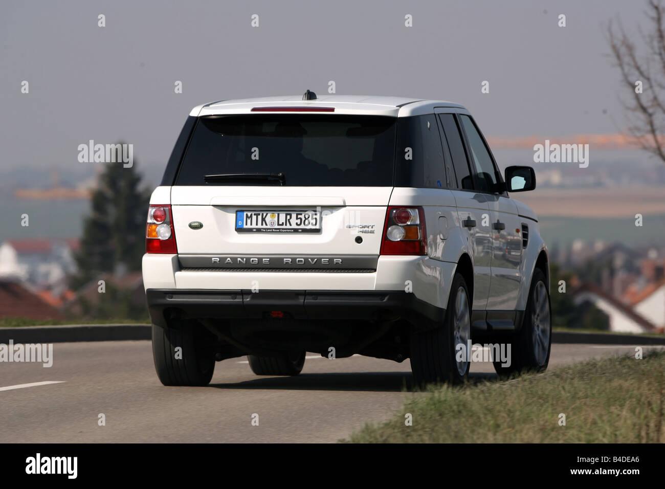 Range Rover Sport TDV8 HSE model year 2005 white driving Stock