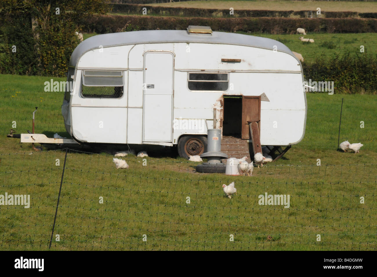 An Old Caravan Now Put To Use As A Hen House For Free