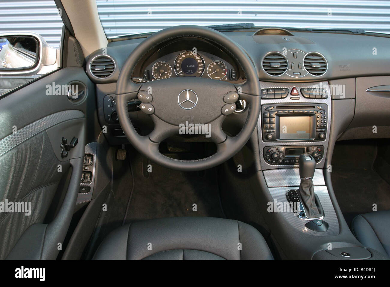 Car Mercedes Clk 320 Convertible Model Year 2003 Silver Stock Photo Royalty Free Image
