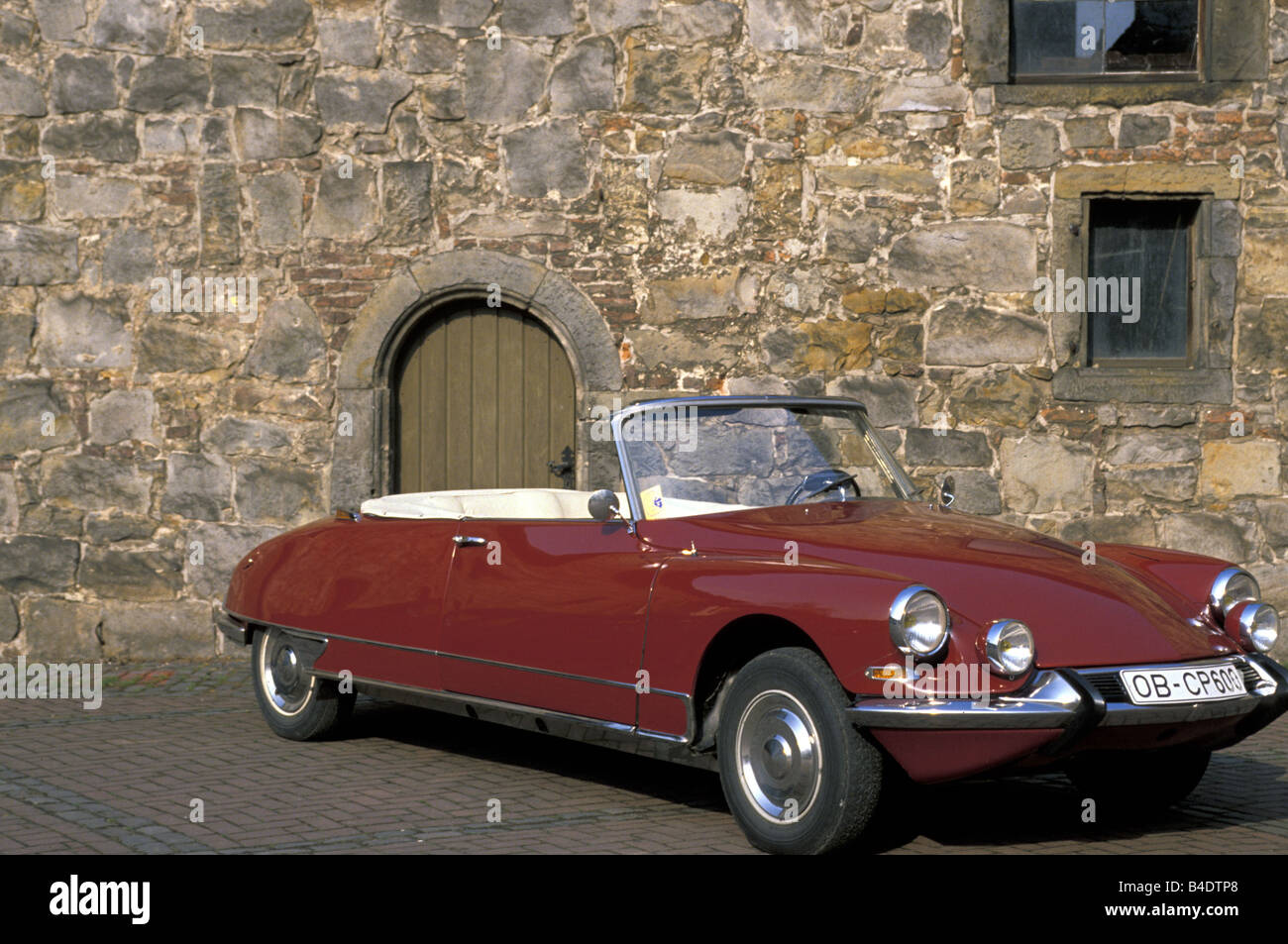 car citroen ds convertible model year 1961 1965 vintage approx stock photo royalty free. Black Bedroom Furniture Sets. Home Design Ideas