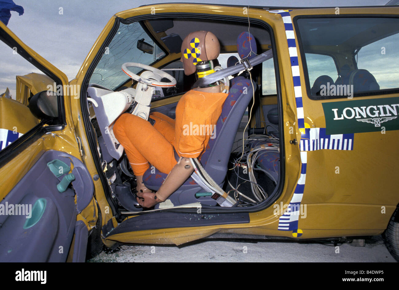 car security crash tests small approx renault twingo 1993 with stock photo royalty free. Black Bedroom Furniture Sets. Home Design Ideas