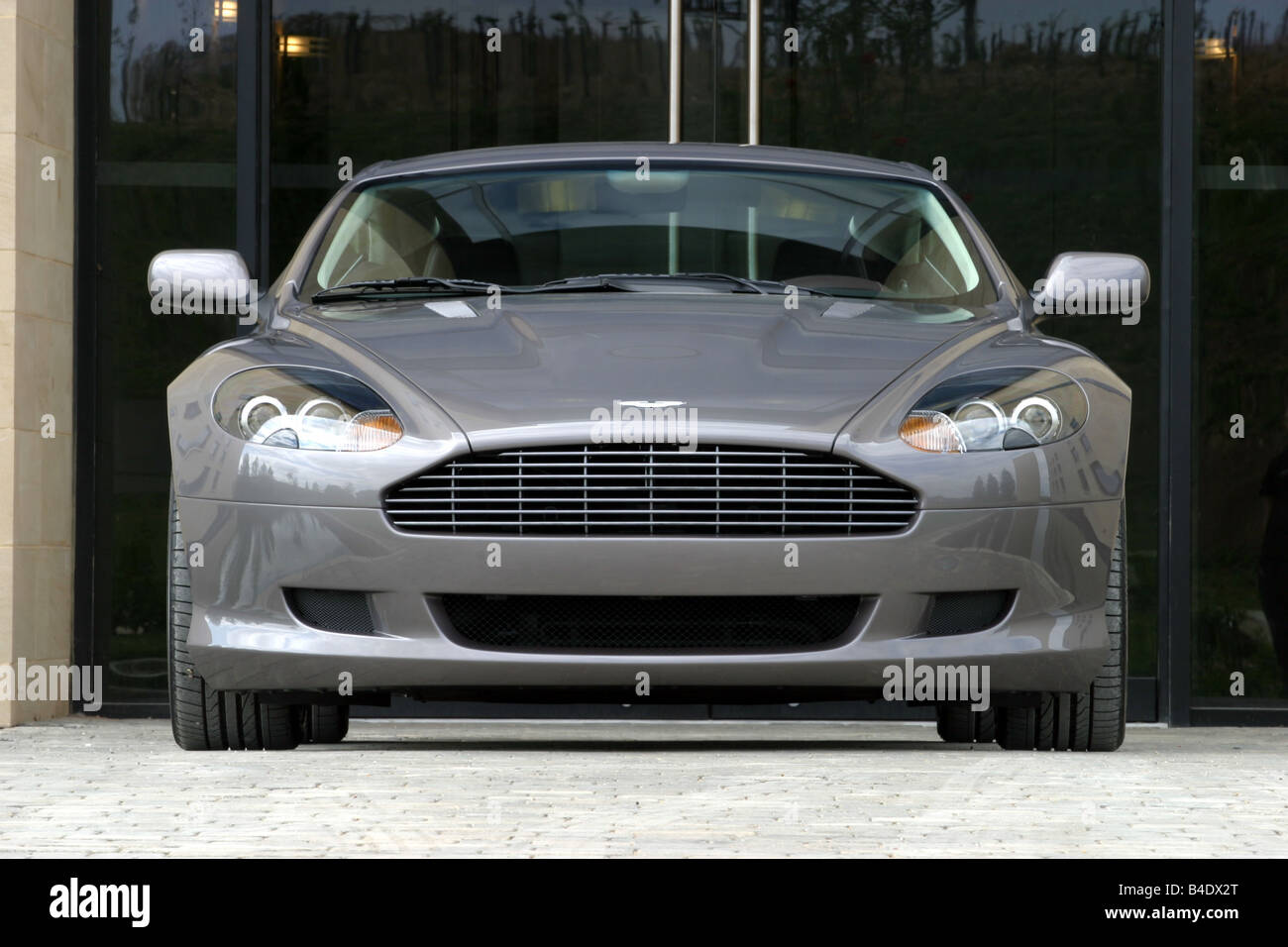 Car, Aston Martin DB9, Roadster, Coupe/Coupe, Silver Anthracite, Model Year  2003 , Standing, Upholding, Front View