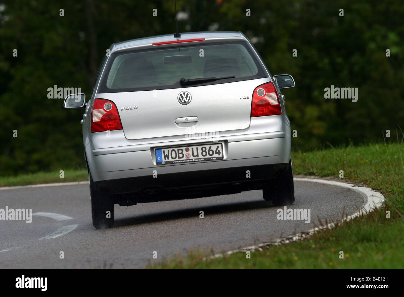 Car, VW Volkswagen Polo 1.4 TDI, small approx., Limousine, silver ...