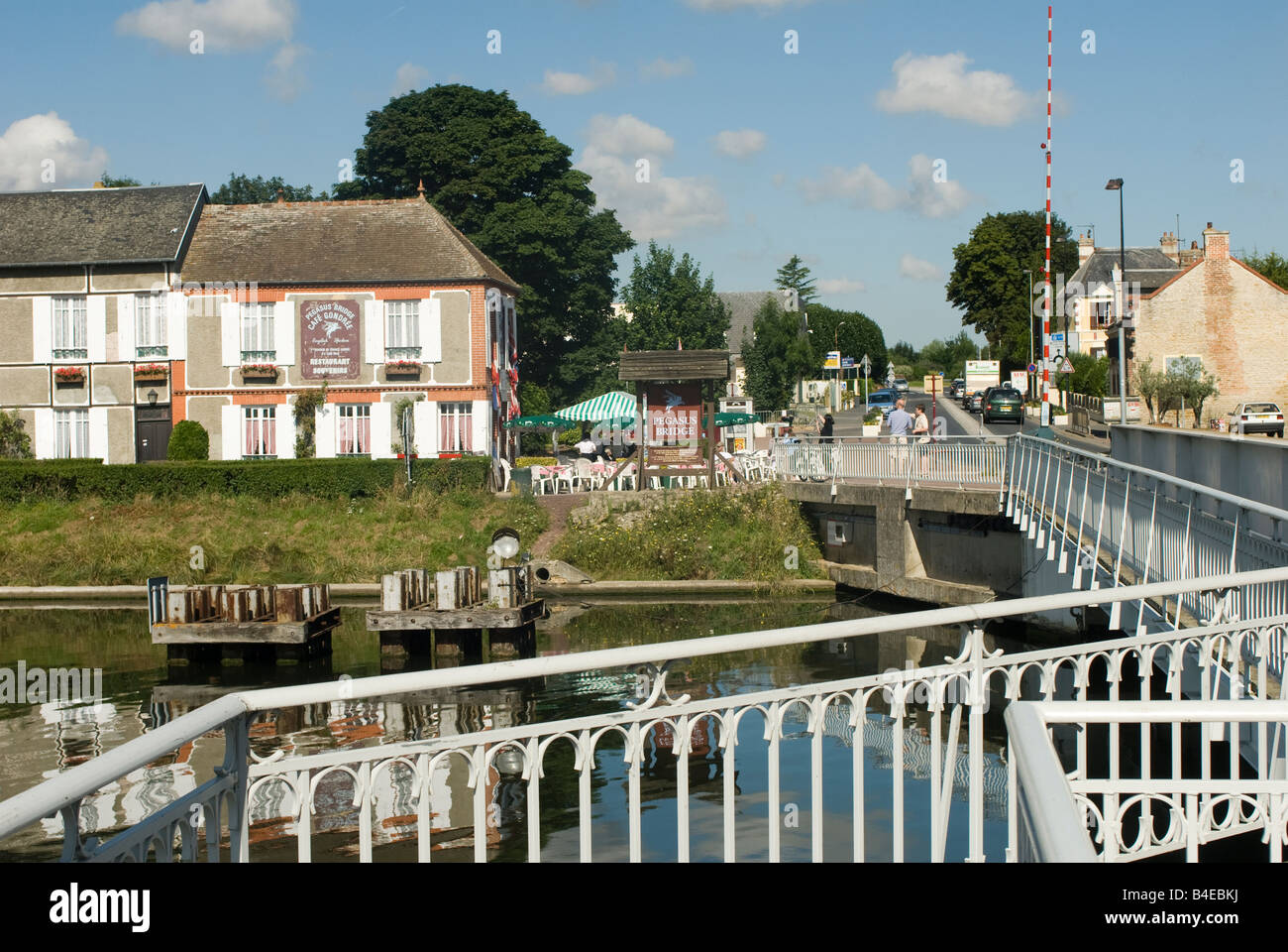 pegasus bridge over the caen canal near ouistreham france stock photo royalty free image. Black Bedroom Furniture Sets. Home Design Ideas