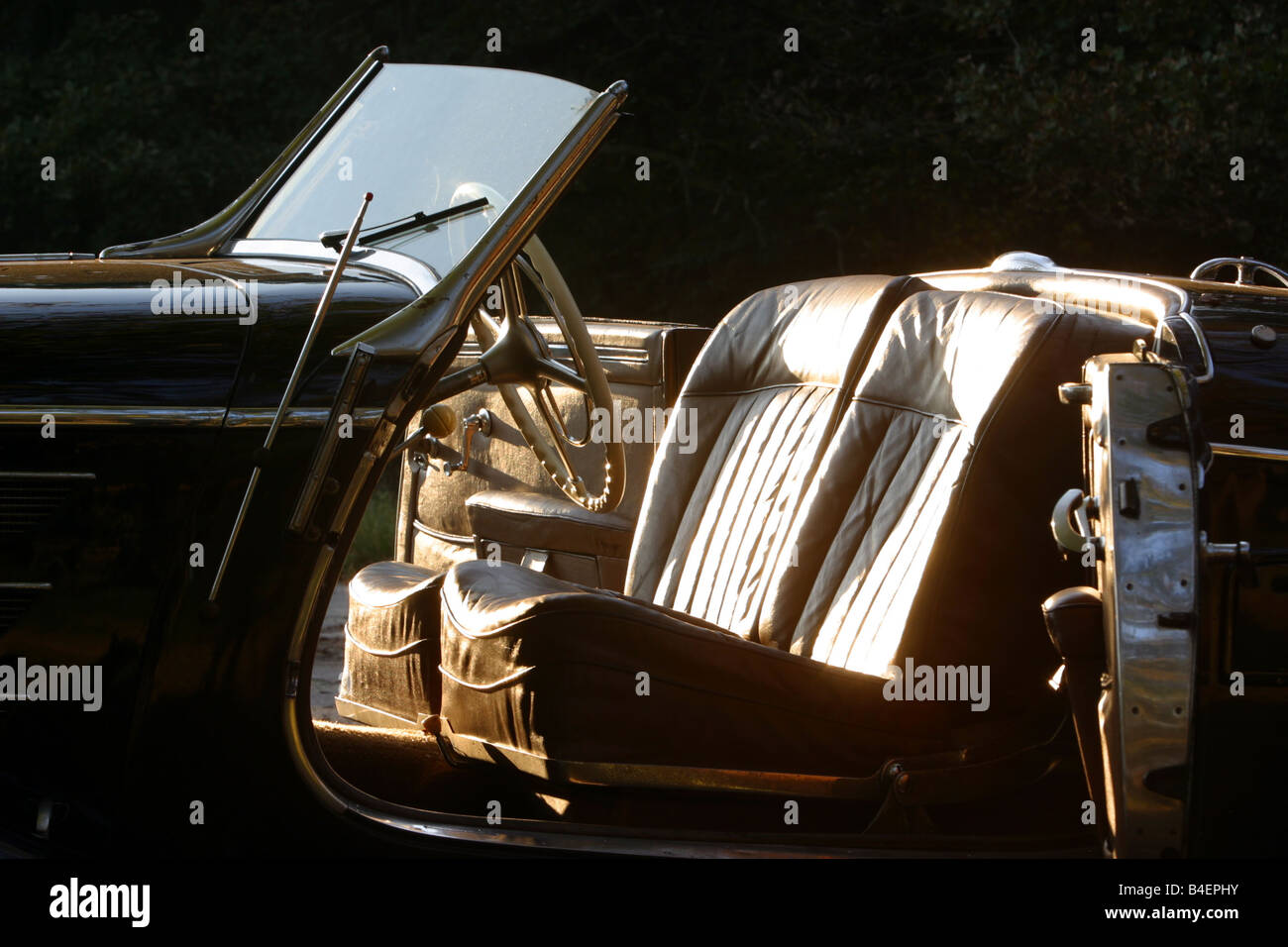 car mercedes 540 k vintage car 1930s thirties interior seats stock photo royalty free. Black Bedroom Furniture Sets. Home Design Ideas