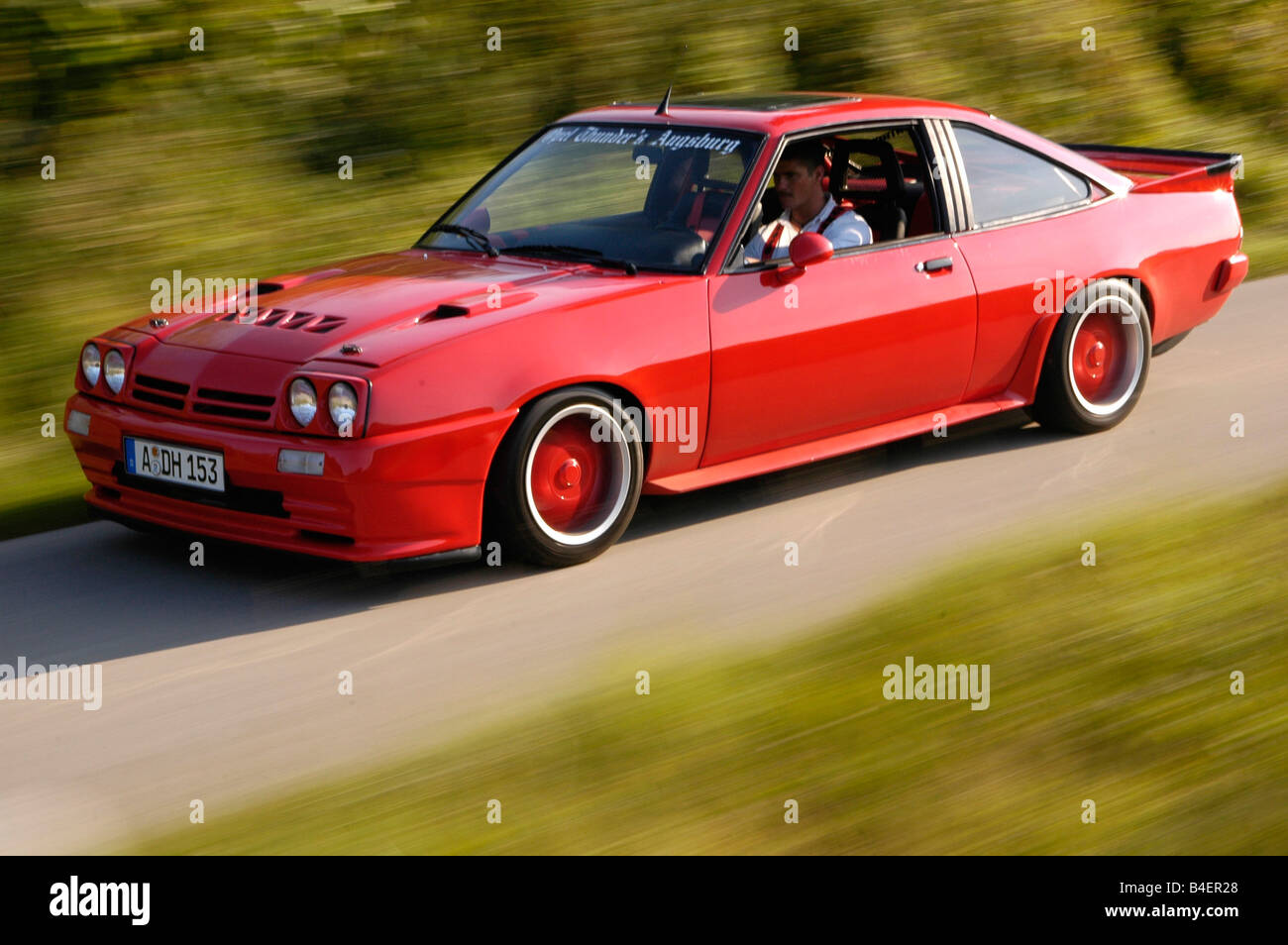 car opel manta b model year 1983 red coup coupe old car stock photo 19994416 alamy. Black Bedroom Furniture Sets. Home Design Ideas