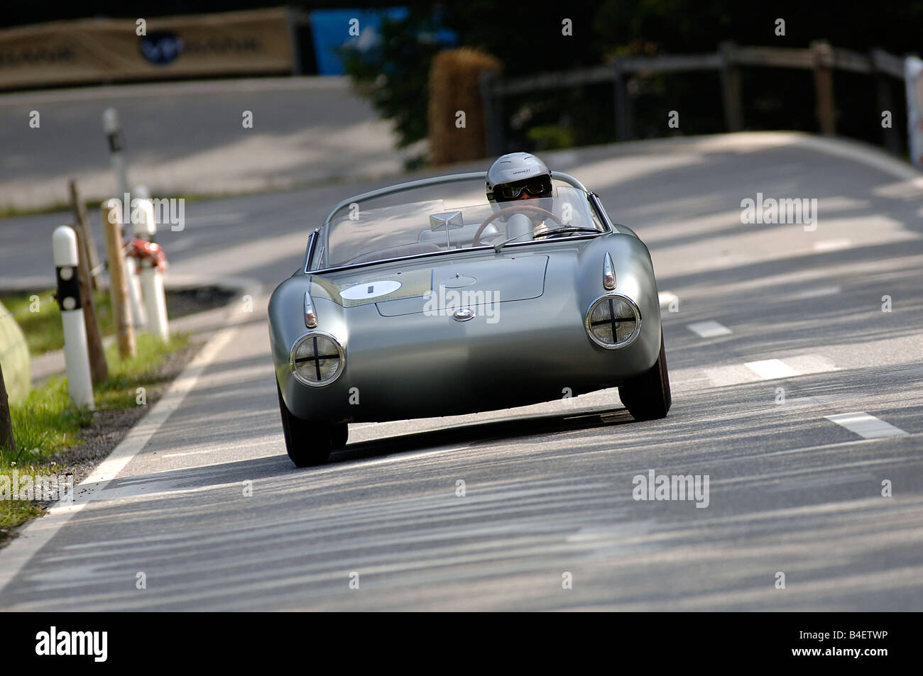 Car, BMW 700 RS, Sports Car, Racing Car, Vintage Car, Model Year Approx.  1960, 1960s, Sixties , Driving, Front View, Road, Count