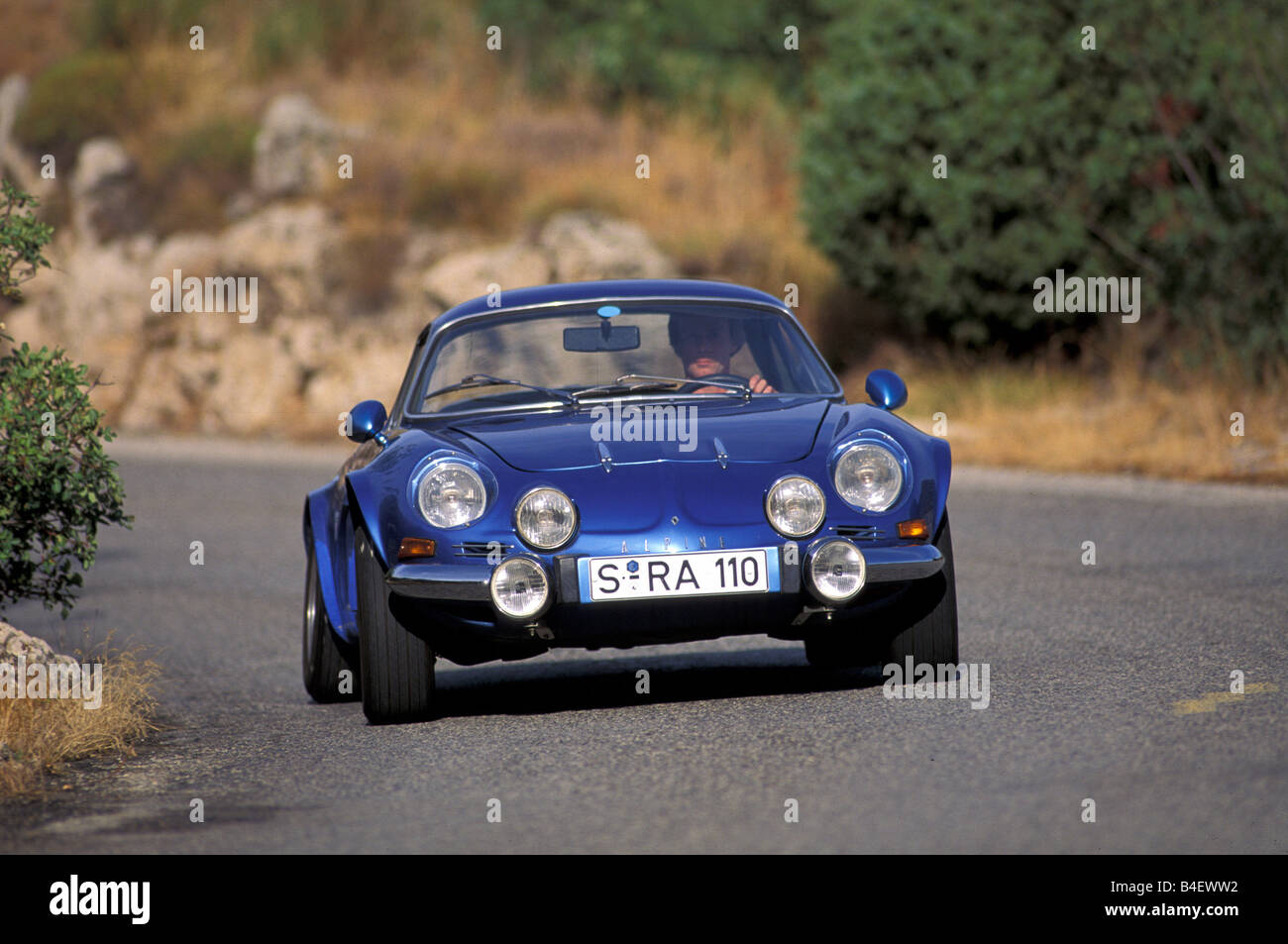 Car Renault Alpine A110 Sports Car Coup 233 Coupe Blue