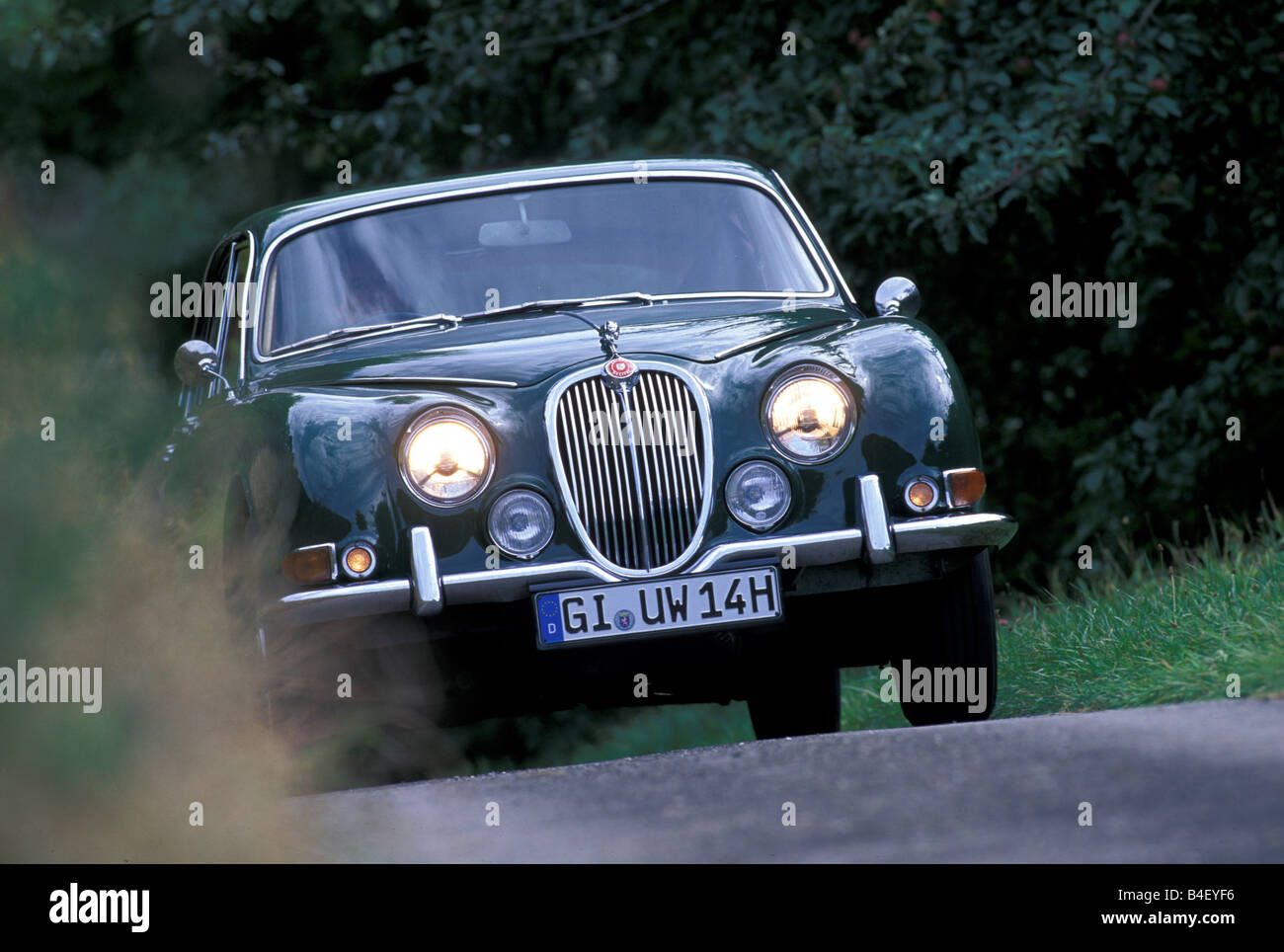 Car Jaguar S Type Vintage Car Sixties Dark Green