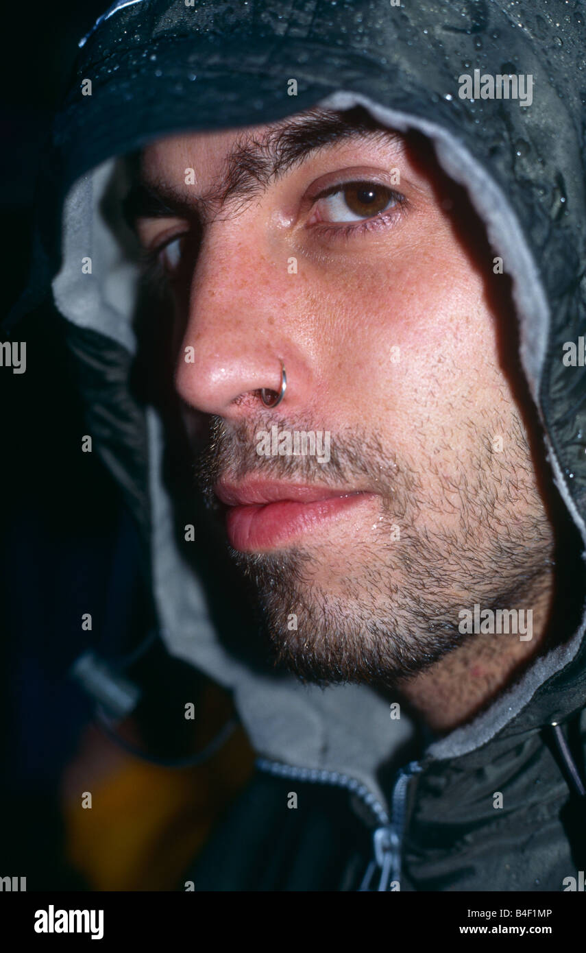 Closeup of a man with a nose ring Stock Photo, Royalty Free Image ...