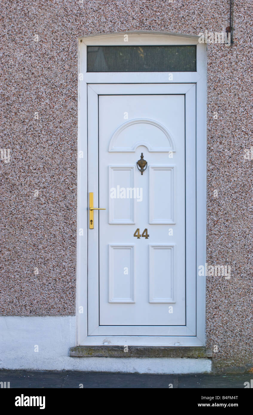 Fanlight door two of our customers chose different paint for Contemporary upvc front doors